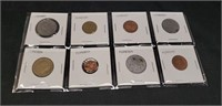 Lot of 8 vintage Foreign coins