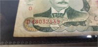 Lot of 4 vintage foreign paper money