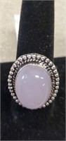 Beautiful German Silver Rose Quartz Ring size 9