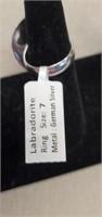 Beautiful German Silver Labradorite Ring size 7