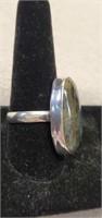 Beautiful German Silver Labradorite Ring size 11.5