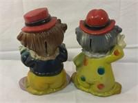 Clown vintage piggy banks