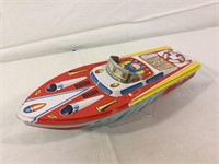 Tin Japanese speed boat and more