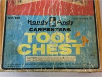 Handy Andy vintage carpenters tool chest