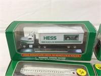 Hess miniture cars, boats and more nib