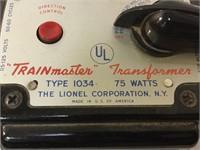 """ Train Master"" Vintage transformer type 1034"