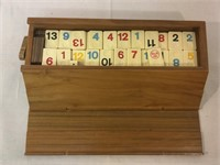 Vintage dominos with wood box