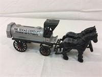 Ertl Texaco horse drawn die cast piggy bank