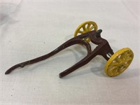 Cast iron horse drawn ice carriage