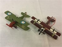 Diecast military airplanes