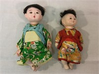 Asian vintage composition dolls