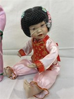 Asian Porcleain dolls-danbury mint
