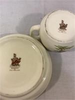 Bunnykins english bone china cup and bowl