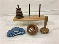 Wooden vintage childrens toys