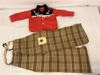 Vintage childrens western outfit