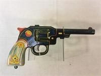 Marx vintage lithograph tin dart pistol gun
