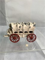 Cast Iron cattle pulling wagon