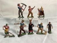 French Vintage Metal Handpainted figurines