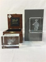 Disney Mickey Mouse & Tiger Laser Cut Crystal