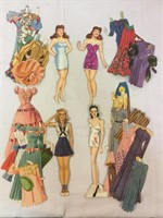 Gayle Paige orginal Paper Dolls with extras