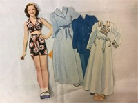 Shirley Temple Orginal Paper dolls w/extras