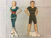 Oklahoma Statuette Dolls w/clothes