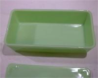 Jadite Shakers box lot chip on refrigerator dish