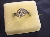 Sterling Silver Ring S-7 Cubic Zirconium Stones