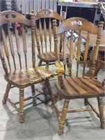 Wooden Kitchen Table and 6 Chairs