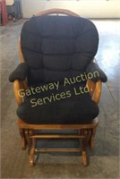 Rocking Chair with Padded Seat and Back Cover