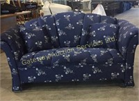 Love Seat with Throw Pillows 61 inches long