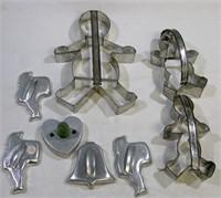 Vintage Metal Cookie Cutters 8 Pieces