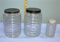 """Sellers Canisters & Shaker 8"""" Tall 4,5"""" wide"""