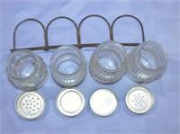 1900's Hoosier Shakers With Metal Rack