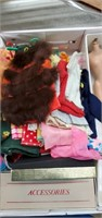 Box Lot Of Vintage Dolls And Accessories