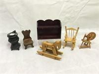 Wooden Vintage Doll House Furniture