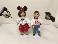 Vintage Disney Signed Porcelain Dolls