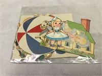 Vintage Miniture Original Paper Dolls