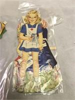 Rock-a-Baby Vintage Original Paper Dolls