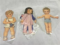 Large VIntage Original Paper Dolls