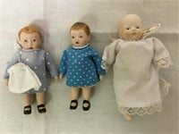 Porcelain miniture dolls