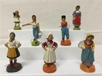 German antique composition figures,1920's -30's