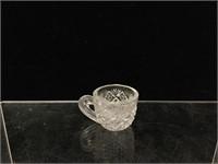 Cut glass tea cups