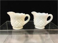 Authentic vintage milk glass minitures