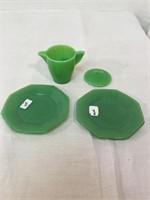 Vintage glass tea set
