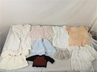 Collection of vintage doll clothes