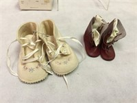 Collection of vintage doll shoes & more