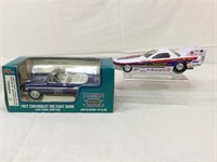 Racing Champions die-cast bank & more