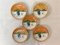 Japanese hand-painted childrens tea set