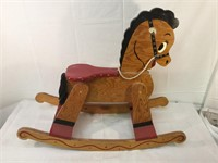 Wooden hand-made rocking horse